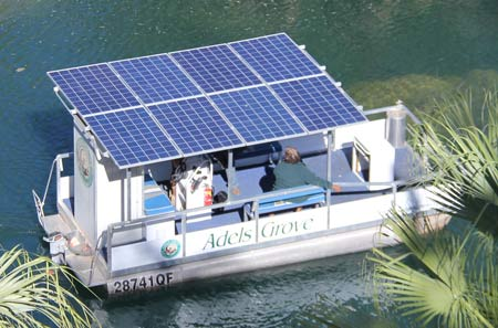 solar powered river boat