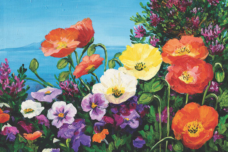 coastal poppies painting